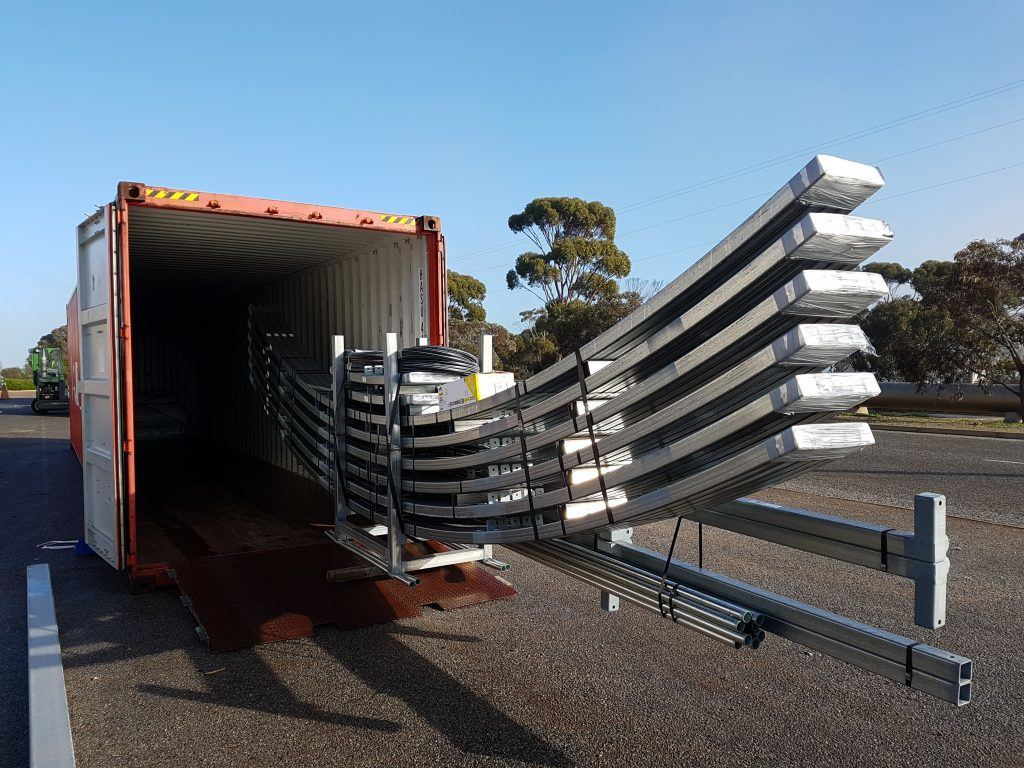 Shipping Container Shed - ease of transport