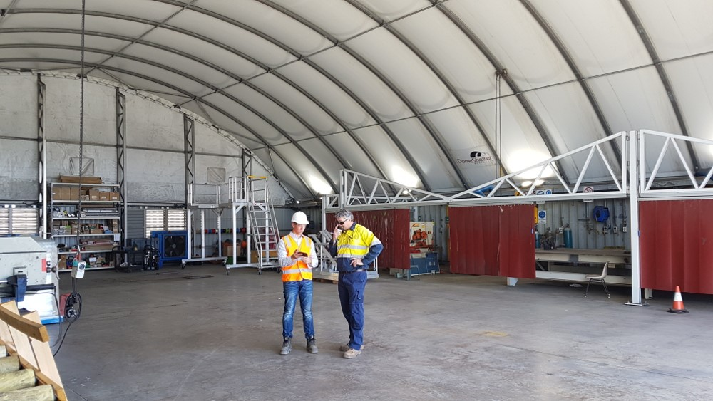 fabric structure for workshops